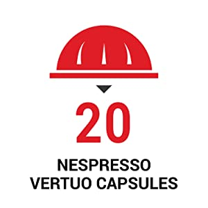 Holds 20 Nespresso Vertuo line capsules