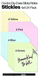 Stickies 4z4 Colors 24 Pack