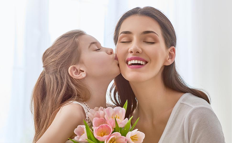 Heart earrings for girls