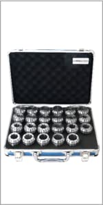 Accusize 0223-0935 ER40 Collet Set inch Size 150x300