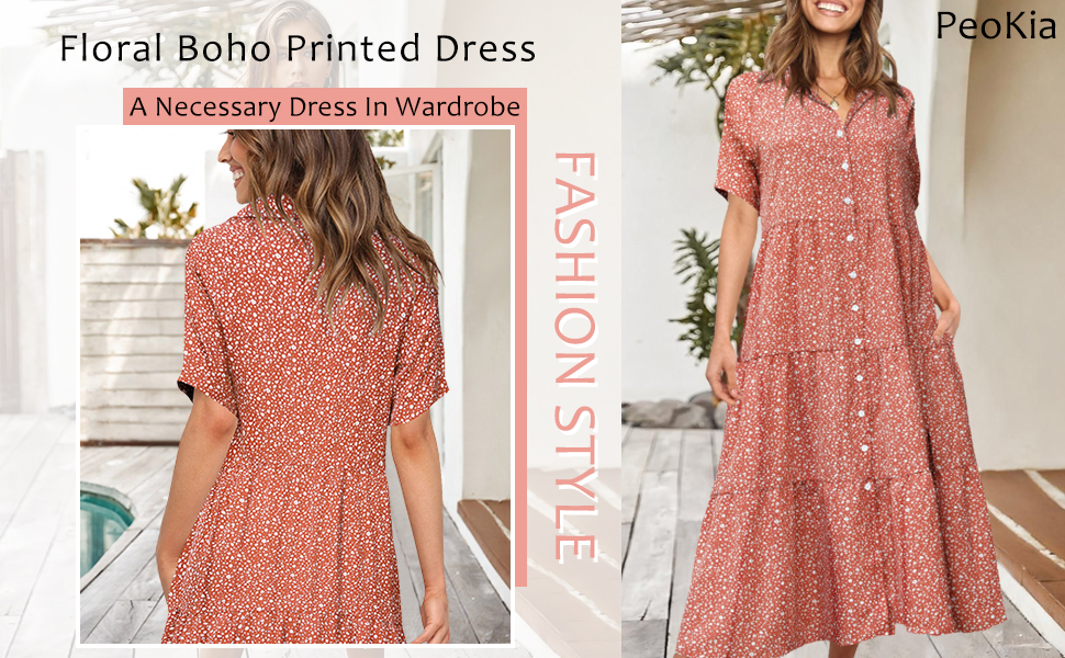 Boho printed dress