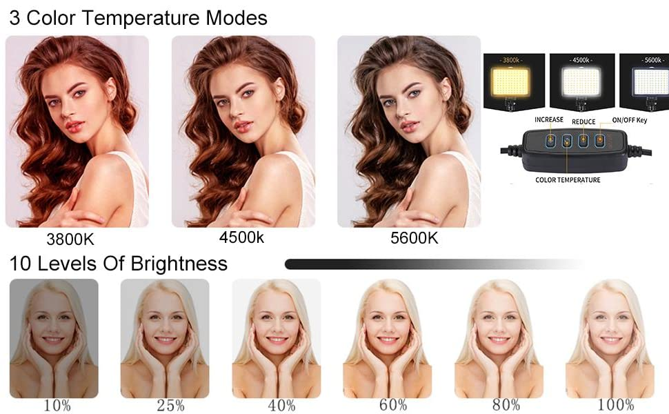 Photo effects with different color temperatures and different brightness