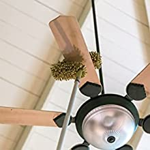 fan cleaner brush with long rod