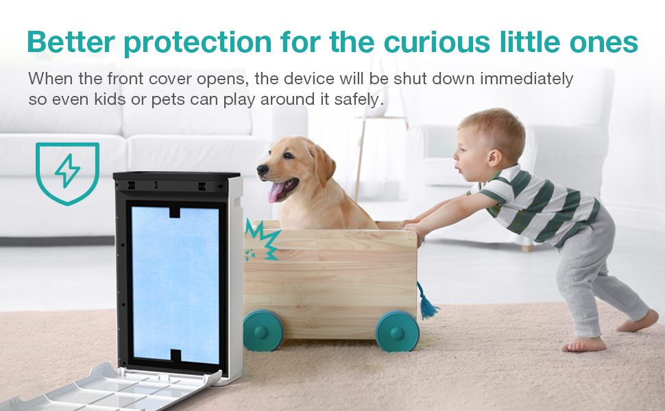 Auto Shutdown to protect your kids and pets, safe air treatment device