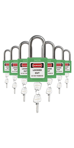Padlocks Green 2 keys