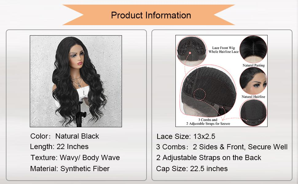 black lace front wig