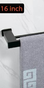 space aluminum double towel bar