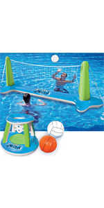 Inflatable Volleyball Net amp;amp; Basketball Hoops