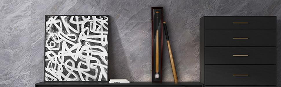 Baseball bat display cabinet