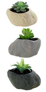 """3pcs 3.15"""" small flower pots succulent planters"""