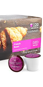 day to day coffee pods french roast 120 count