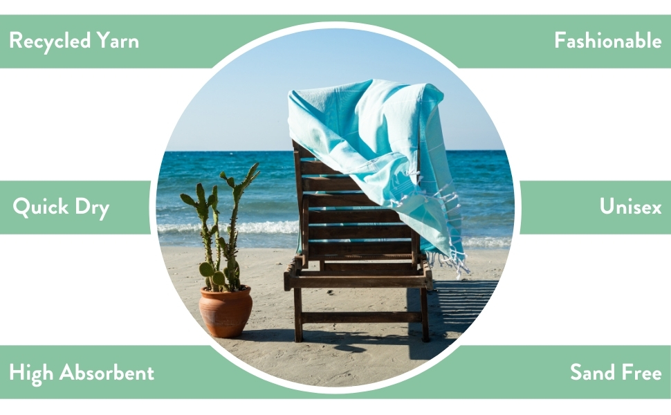 quick-dry, unisex, high absorbent, sand-free beach towel