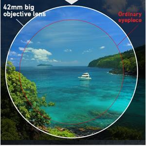 42mm large objective lens
