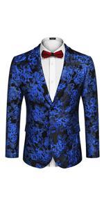 Menamp;#39;s Floral Tuxedo Jacket