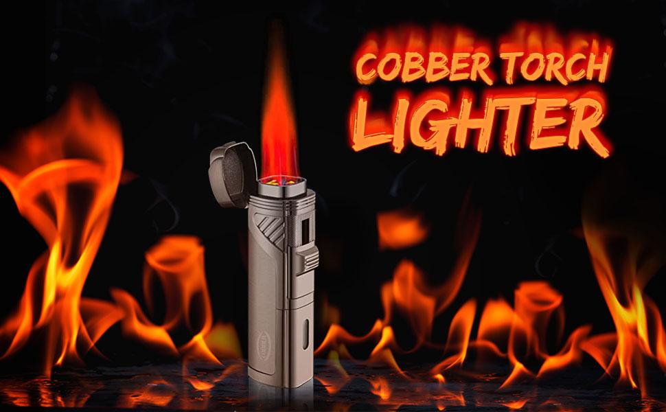cigar lighter lighter for smoking torch lighter Butane Cigar Lighter with Punch