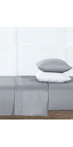 6-Gray Silver-Infused Microfiber 6-Piece Sheet Set