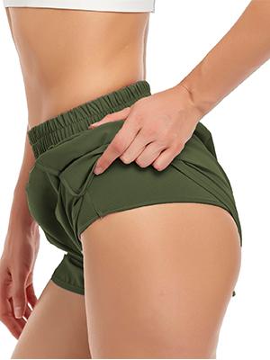 High waist running shorts