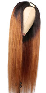 1b30 U part Straight Wig