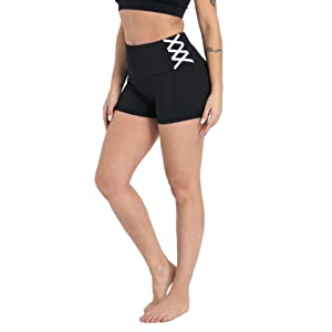 Frauen Athletic Shorts Non See Through Active Fitness Volleyball Shorts schwarzamp;amp;S