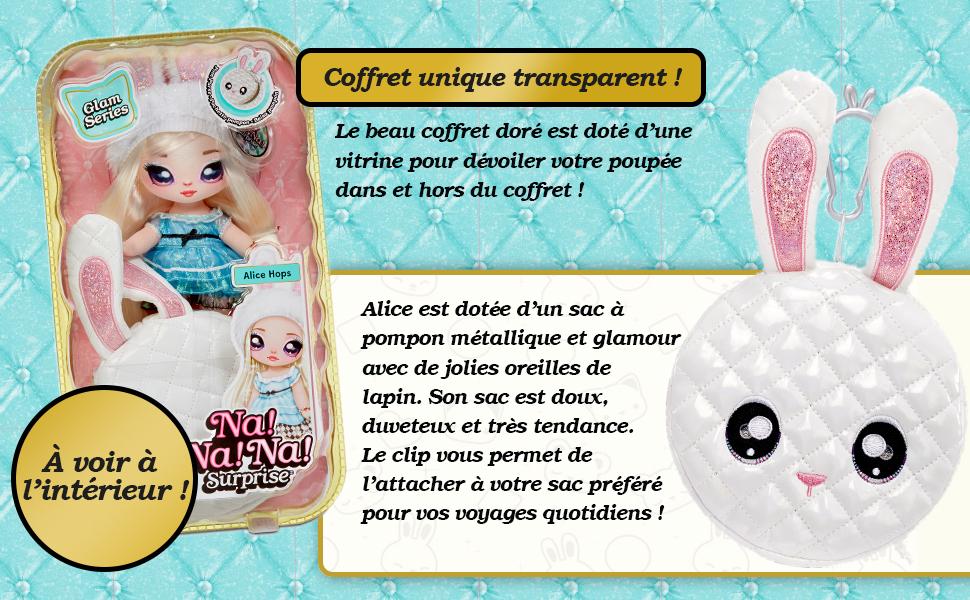Na Na Na Surprise Mannequin 2-en-1 Série Glam Alice Hops