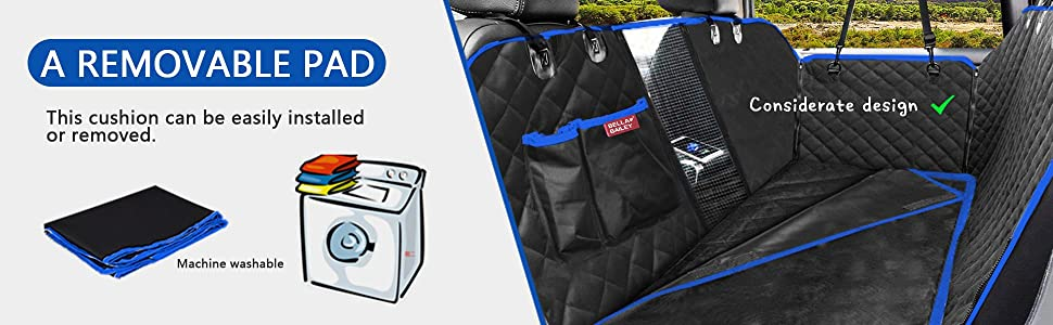 detachable pad for seat cover easy cleaning and machine washable