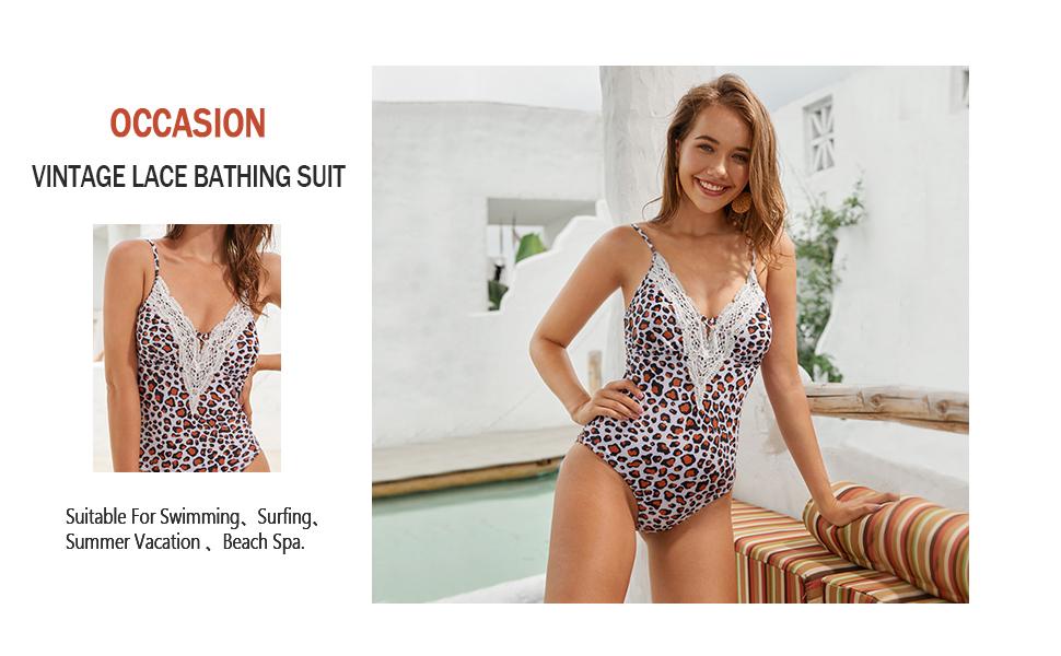 1189 deep v bathing suit lace bathing suit  lace monokini