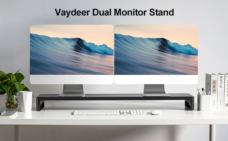 Vaydeer dual monitor stand riser with USB