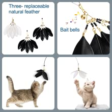 cat toy feather wand cat wand refill feather cat toy wand cat teaser toy feather teaser cat toy