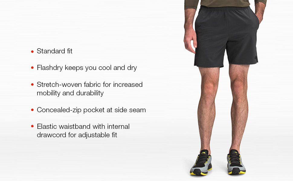 Flashdry keeps you cool and dry and has a concealed pocket so you can carry your belongings.