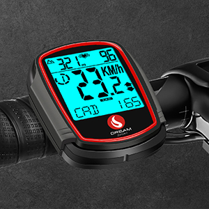 bike computer speedometer odometer with speed cadence sensor heart rate monitor chest strap
