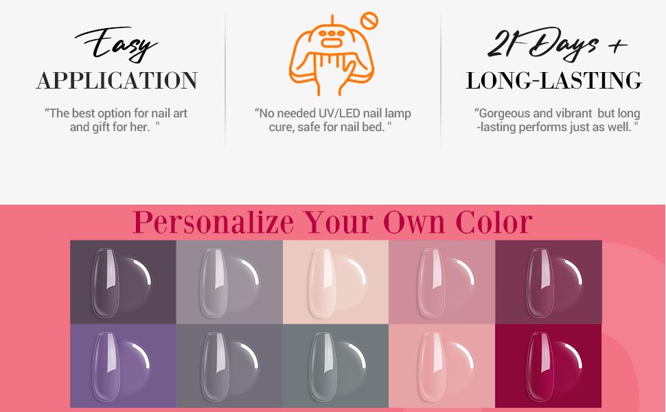 Dip Powder Nail Set 10 Colors
