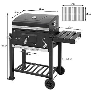 ML-Design ML-126/BBQ Holzkohlegrill