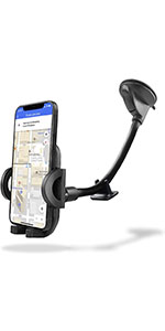 Car Phone Holder with Long Arm and Stabiliser