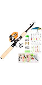 kids fishing pole kit fishing rod reel combo