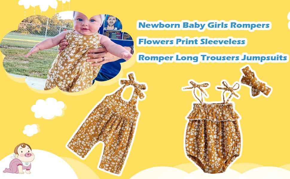 baby girl romper daisy