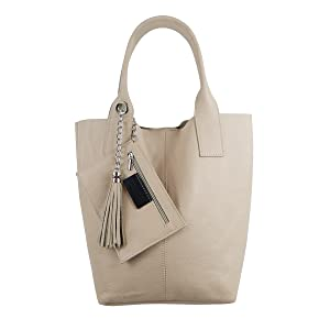 Echtleder Damen Handtasche Schmucktasche großBlau XXL Groß Shopper