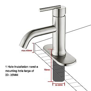 1 handle bathroom faucet