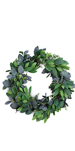 artificial leaves wreath