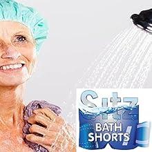 Elderly Woman in Shower