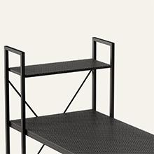 HOME OFFICE DESK TABLE 47 INCH CORNER DESK SMALL GAMING DESK WITH STORAGE SHELVES