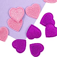 heart iron on patches