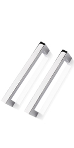 polished chrome cabinet handles