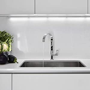 Vuzati sink installed with faucet