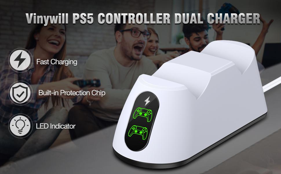 ps5 controller dual charger