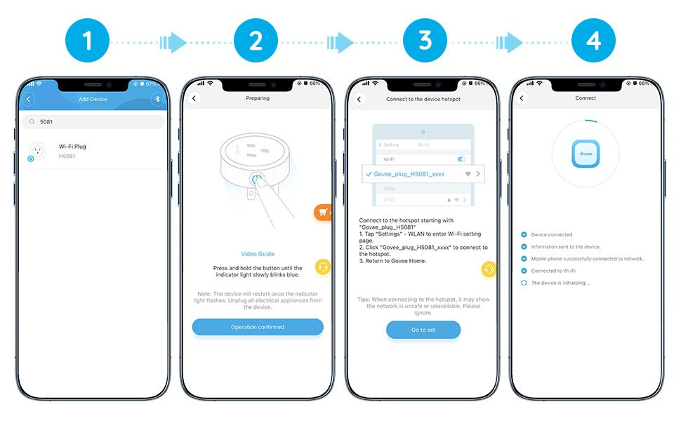 Govee Smart Plug  Connect Description