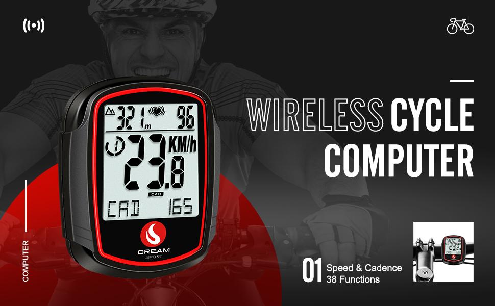 Bike Computer Heart Rate Monitor Speed Cadence Sensor Speedometer Odometer Cycling Speed Tracker