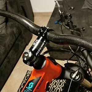 MTB Road Bike Riser Bar 31.8*580-760mm stem 6//17° Handlebar Grips Brake Levers