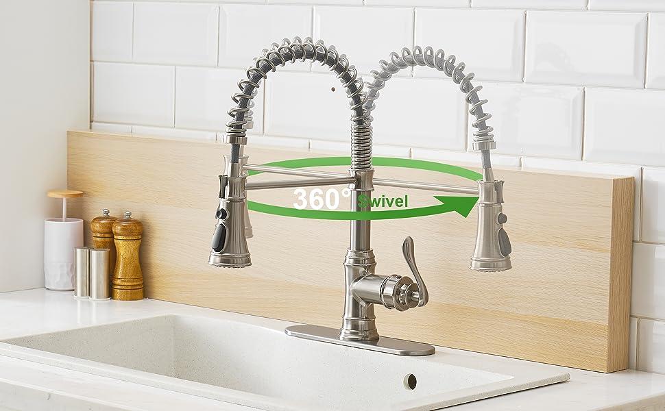 Kitchen faucet brushed nickel