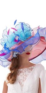 Women's Church Derby Dress Fascinator Bridal  British Tea Party Wedding Hat Colorful