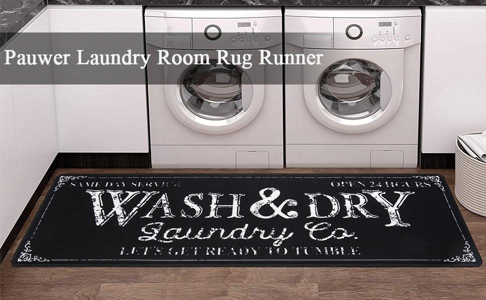 Farmhouse Laundry room Rug Runner Kitchen Floor Mat Washhouse Mat Bathroom Floor Mat Carpet